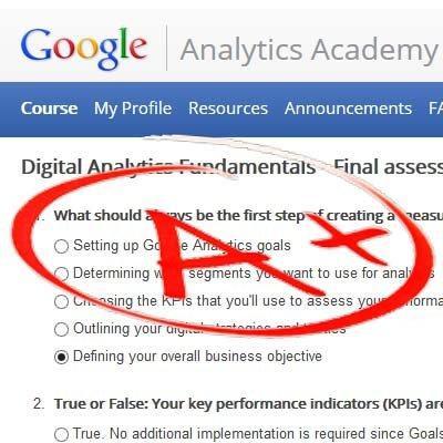 Final Assessment Answers - Google Digital Analytics